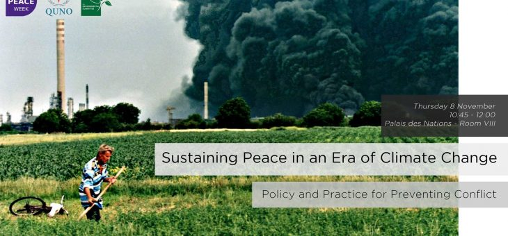 Climate Change and Peace at the Palais des Nations (panel discussion)